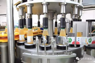 Round Bottle Rotary Labeler Dengan Rotasi Dish Labeling Machine System