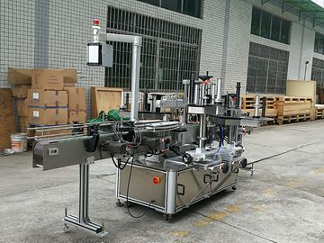 CE Glass Bottle Labeling Machine, Sticker Depan dan Mesin Pelabelan Back Untuk Botol Kaca Round